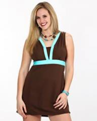 Chocolate/Aqua Marine SlimDress