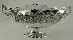 Oval Pedestal Bowl with Handles