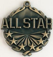1 3/4'' All Star Gold Medal