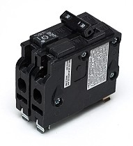 Siemens type QD double pole circuit breakers