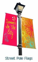 Custom-Double Sided Pole Banners