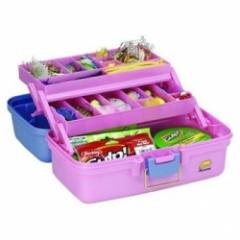 Plano Tackle Box 2 Tray Periwinkle/Pink
