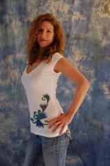 Belise Blue Dream - Deep V-neck Shirt