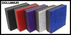 Carpet Bonded Foam 6′ x 42′ x 2″ Red, Purple,