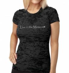Live in the Moment-s/s burnout tee – black