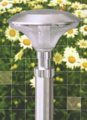 Solar Stake - 23In Stainless Steel - Silver