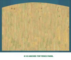 6 X 8 Arched Top Fence Panel
