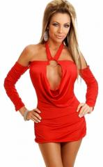 Cowl Front Mini Dress