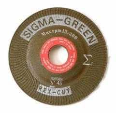 4-1/2x7/8 Rex-Cut Sigma Green Grinding Wheel No.