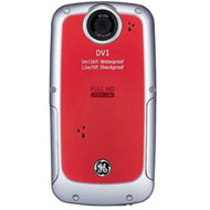 GE Active Waterproof Digital Video Camera (Red)