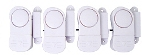 Mini Magnetic Contact Alarm / Chime (4 Pack)