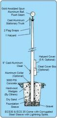 Special Budget Series Flagpoles 15' -