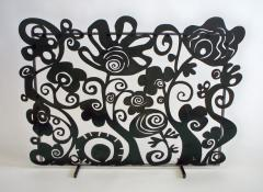 Fireplace Screen - Funky Floral
