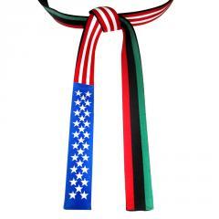 USA and Pan-African Flag Belt