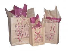 Post Printed Natural Kraft Shopping Bags