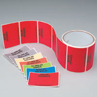 Color-coded Adhesive I.D. Labels - Roll of 100