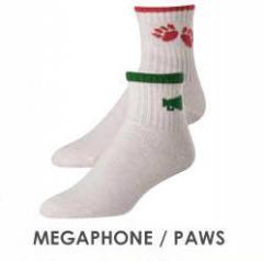 Megaphone/Paw Cheerleading socks