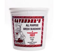 5 lb Tub: Cavender's: All Purpose Greek