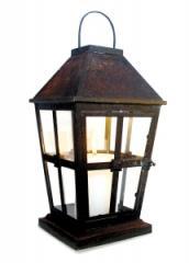 Maison Rustic Iron & Glass Lantern