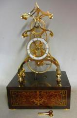 Glass Gear Skeleton Clock