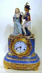 "Fantastic 19"" Porcelain Statue Clock"