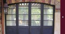 Bronze clad doors