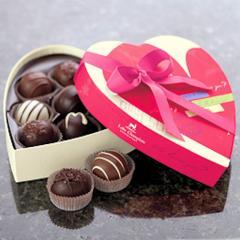 Traditional Valentine Truffles Heart