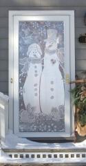 Snow Couple Lace Panel