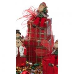Jolly Saint Nick Holiday Gift Tower