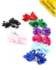 BEAD ACCENT BOW HAIR ACCESSORY