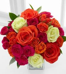 Summer Sunrise Rose Bouquet - 12 Stems