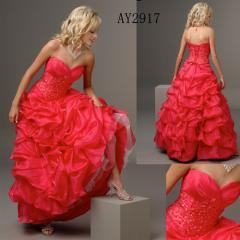 # 854 Designer Sexy Red Evening Dress