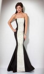 # 436 Informal Black & White Prom Dress