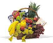 Gourmet Basket or Seasonal Fruit Basket