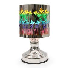 Metal Floral Touch Oil Warmer