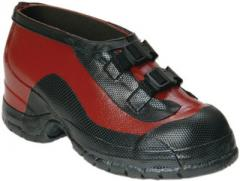 Salisbury Size 10 Red And Black Rubber Overshoes