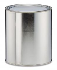 Round Gray Lined Can with Plug No Ears or Bail