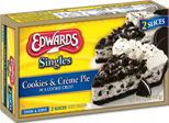 Edwards® Cookies and Crème Pie Slices
