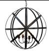 Metal round lantern