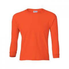 Orange Ultra Cotton Youth Long Sleeve T-Shirt by