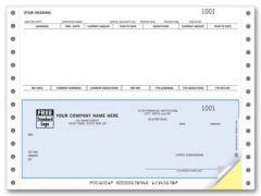 DCB304, Continuous Bottom Payroll Check