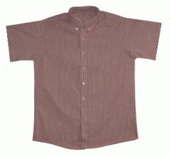Boy's Short Sleeve Striped Oxford Cloth Shirt