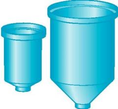 Cone-bottom, cylindrical tanks