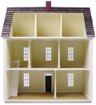 "1/2"" Scale Finished Colonial Dollhouse by"