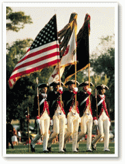 Indoor and Parade American Flags and Sets