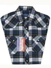 Wrangler Assorted Plaid Flannel Shirts - #75098AA