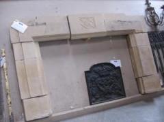 English Stone Mantel-5793