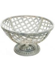 Tin Cup Basket on Pedestal