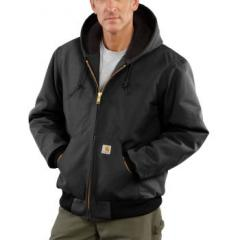 Men's Quilted-Flannel Lined Duck Jacket J140