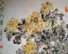 """Paintings, """"Chrysanthemum"""""""